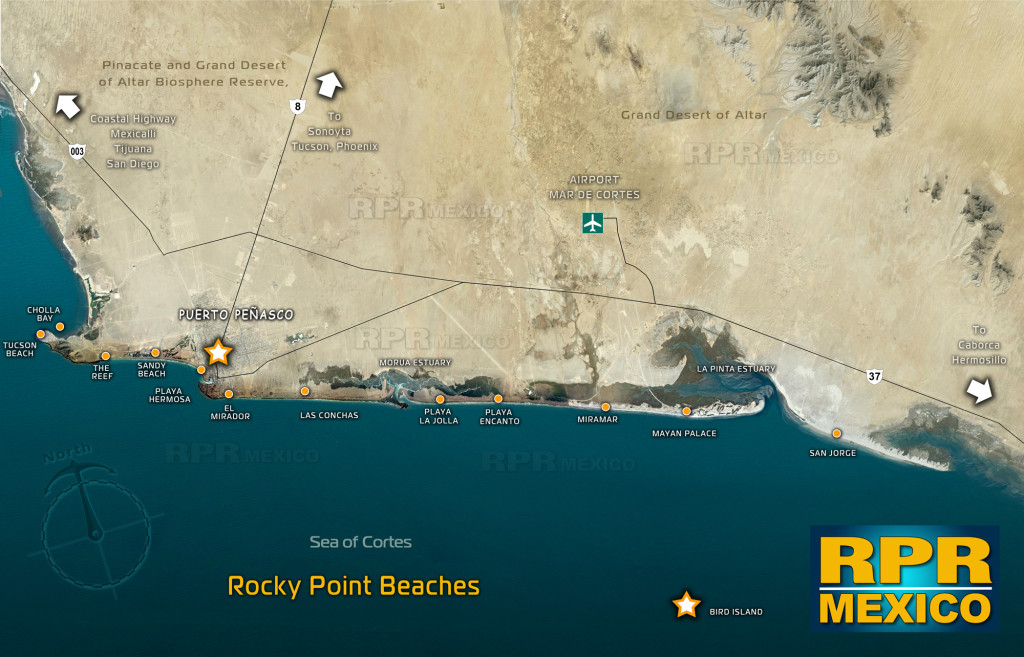 Enjoy Rocky Point beaches around town.